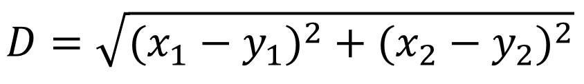 数据分类的方法很简单,将计算获得的距离值进行排序。距离最近的数据点所在的类别就是新增数据的分类。在这个示例中,33岁贷款150000元的数据点与新增数据点距离最近。因此我们认为新增数据点与他属于同一个类别。为会还款的用户分类。  将距离值的计算结果还原到散点图中可以看到,绿色方框与红色圆圈的数据点距离最近,因此新增数据被分类到已还款的类别中。  这里有一个问题。我们判断的两个维度是年龄和借款金额,这里两个维度的数值测量尺度存在较大的差异。贷款金额以万元为单位,而年