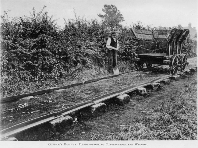Derby_Canal_Railway-Showing_Construction_and_Waggon